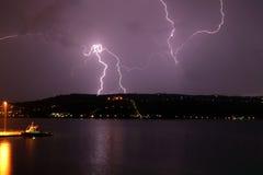 Blitzschlag auf Akrotiri Lizenzfreies Stockbild