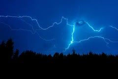 Blitzschlag auf Himmel Stockbilder