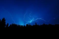 Blitzschlag auf Himmel Stockfotos