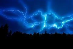 Blitzschlag auf Himmel Lizenzfreie Stockfotos