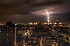 Blitzschlag in Cebu-Stadt, Philippinen Lizenzfreie Stockfotos