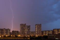 Blitzschlag in der Stadt Lizenzfreies Stockfoto