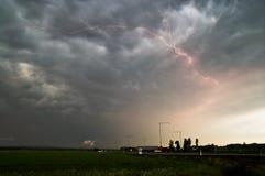 Blitzschlag in Schweden Stockfotos