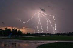 Blitzschlag in Schweden Stockbilder