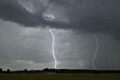 Blitzschlag in Schweden Stockfotografie