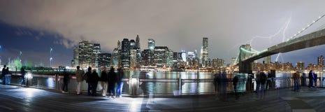 Blitzschraube über New York City Lizenzfreie Stockfotografie
