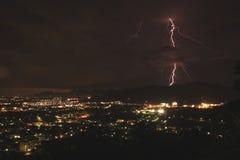 Blitzschraube an der Phuket-Stadt Stockfotos