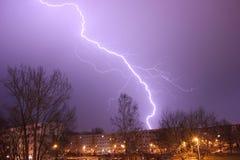 blixt i Chemnitz, Tyskland Royaltyfri Fotografi