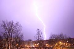 blixt i Chemnitz, Tyskland Royaltyfria Bilder
