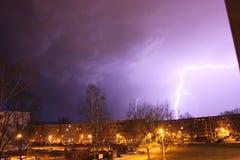 blixt i Chemnitz, Tyskland Arkivfoton