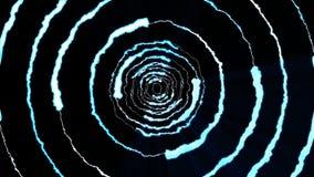 Blixt kasta i sig runt tunnelflyg på ljus effekt 4k för den svarta naturen för bakgrundsanimeringen nya kvalitets- unika dynamisk vektor illustrationer