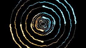 Blixt kasta i sig runt tunnelflyg på ljus effekt 4k för den svarta naturen för bakgrundsanimeringen nya kvalitets- unika dynamisk royaltyfri illustrationer