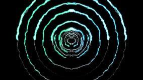 Blixt kasta i sig runt tunnelflyg på ljus effekt 4k för den svarta naturen för bakgrundsanimeringen nya kvalitets- unika dynamisk stock illustrationer