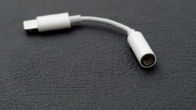 Blixt till 3 Headphone Jack Adapter för mm 5 Arkivfoto