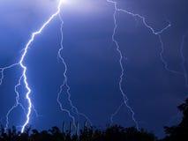 blixtar och åska Royaltyfria Foton