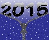 Blixtlås för snö 2015 Arkivbilder