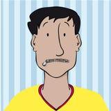 Blixtlåsförsedd mun Arkivfoton