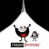 Blixtlåsleende för lycklig födelsedag royaltyfri illustrationer