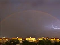 blixtregnbåge Arkivbilder
