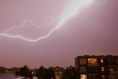 blixtslag Arkivfoto
