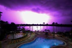 Blixtslag i Orlando, Florida royaltyfri bild