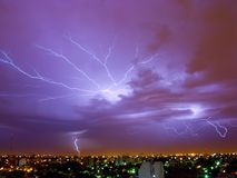blixtstorm Arkivfoton
