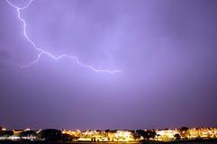 blixtstorm Arkivbild