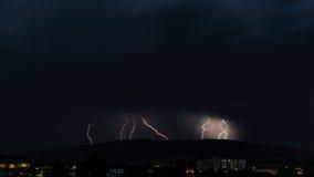 Blixtstorm i staden Royaltyfri Fotografi
