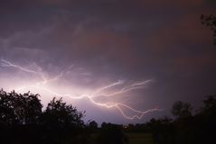 blixtstormar Arkivfoto