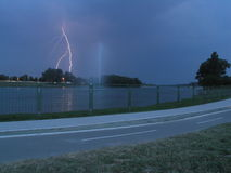 blixtthunderstorm Arkivbilder