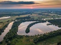 Blizanowice, vue aérienne bajkal de lac image stock