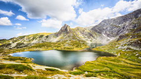 Bliznaka - Mountainsee in Rila, Bulgarien Stockfotos