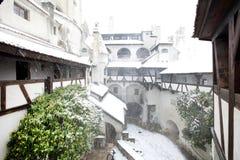 Blizzard über Kleie-Schloss Stockbilder