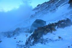 blizzard photo stock