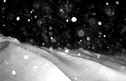 Blizzard. A snow storm,snowy scene Royalty Free Stock Images