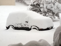 Blizzard of 2010 - snow covered vehicle Stock Image