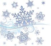 Blizzard. Winter Background, a vector illustration Stock Photos