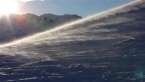 Blizzard afdrijvende sneeuw stock footage