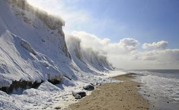 Blizzard on the cliffs, Germany Royalty Free Stock Photography