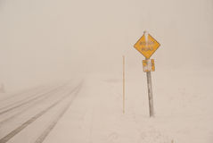 Blizzard Conditions Stock Photo