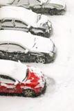 Blizzard da neve imagem de stock royalty free