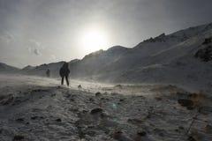 Blizzard an den Bergen Lizenzfreie Stockfotos