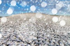 Blizzard in der Landschaft Lizenzfreie Stockfotografie