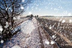 Blizzard in der Landschaft Lizenzfreie Stockfotos
