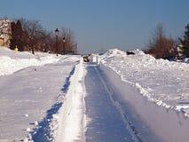 Blizzard in der Stadt Stockbild