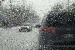 Blizzard in der Stadt - Verkehr Lizenzfreie Stockbilder