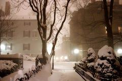 Blizzard em Boston imagens de stock