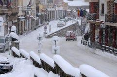 Blizzard em Veliko Tarnovo Imagem de Stock Royalty Free