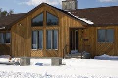 Blizzard-Haus Stockbilder
