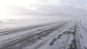 Blizzard, IJsland, Europa stock footage